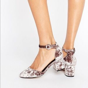 ASOS SPICE Velvet Heels